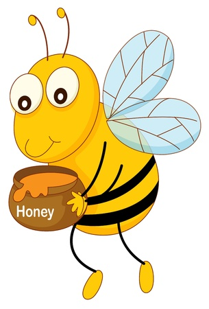 Simple cartoon of a bee Stock Vector - 13630216