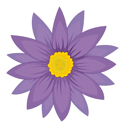 design: Illustration of a simple flower head Illustration