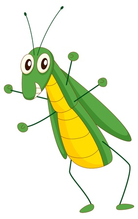 Illustration of a comical grasshopper Vector