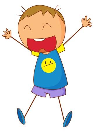 bonhomme allumette: Illustration d'un gamin excit�