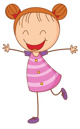 Illustration von einem glücklichen Mädchen