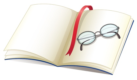 Illustration of book and glasses Vector