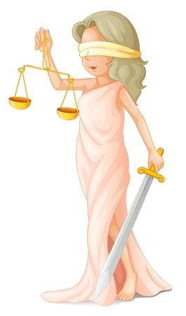 Illustration of blind justice concept Illustration