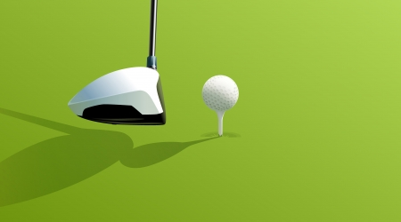 Illustration of golf drive on green Vector