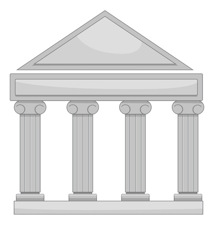 Illustration of court of law Vector
