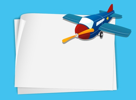 Illustration of a plane on white paper Stock Vector - 13667447