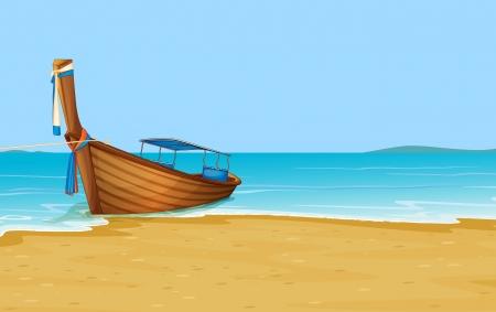 Illustration of Thailand holiday scene Vettoriali