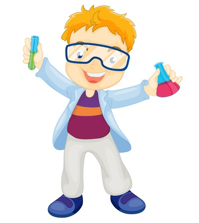 Illustration of a kid scientist Vector