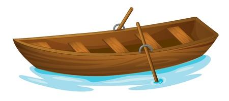 Illustration d'un bateau en bois