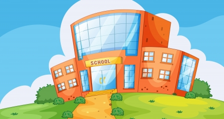 Illustration of the front of a school Stock Vector - 13667476