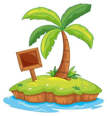 Illustration of a tiny island Vector