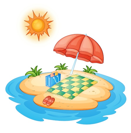 Illustration of a tiny island Stock Vector - 13667487