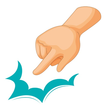 Illustration of a pointing hand