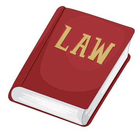 authoritative: Illustration of an isolated law book
