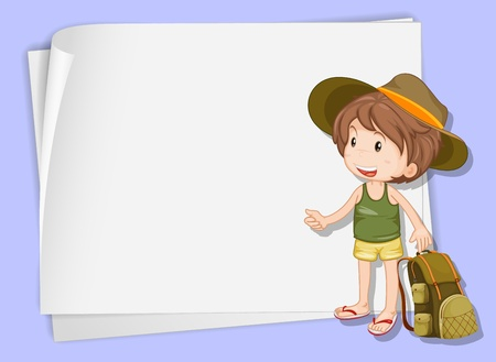 Illustration of a boy on paper Vector