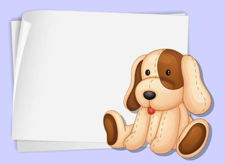 puppies: Illustration of a soft dog on paper Illustration