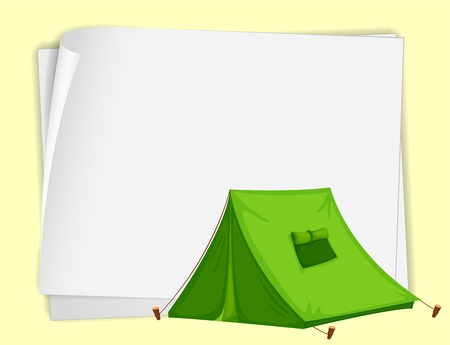 Illustration of a tent on paper Vector Illustration