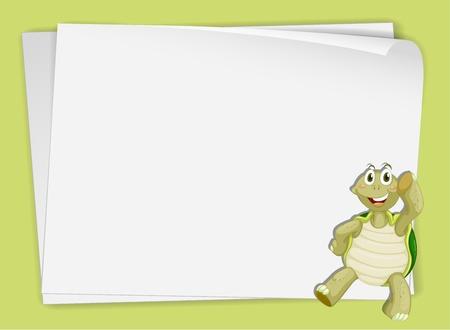 Illustration of a turtle on paper Illustration