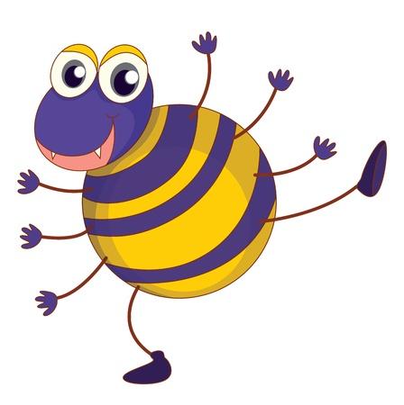 Illustration eines komischen Spinne Illustration