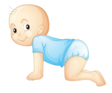 baby crawling: Illustration of a baby crawling