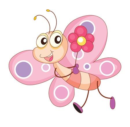 Illustration eines komischen Schmetterling Standard-Bild - 13667339