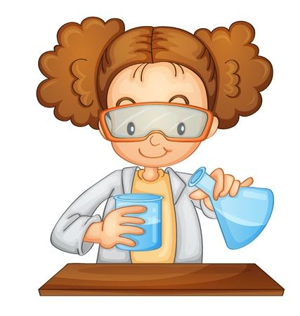 Illustration of a young scientist Vector