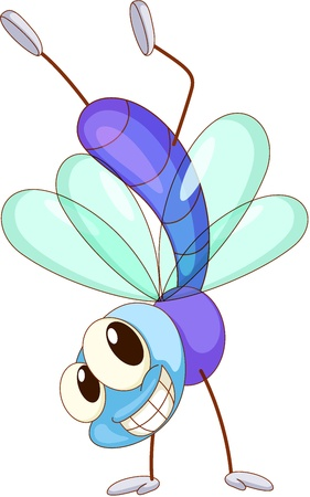 illustration of a cute fly Vector