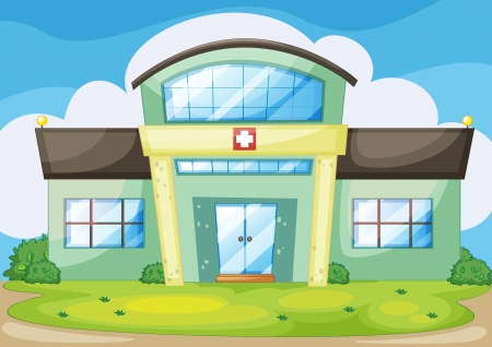 illustration of a modern hospital Vector