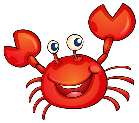 cangrejo: ilustración de un simple cangrejo