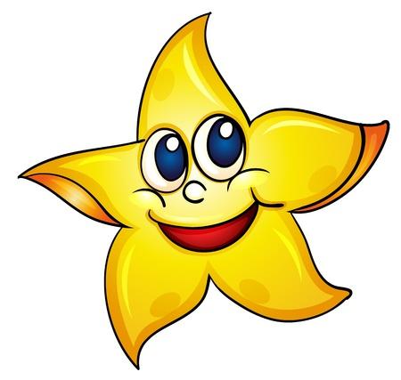 estrella de mar: ilustraci�n de una estrella de mar sencillo
