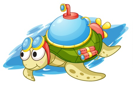 illustration of a turtle with enhancements Vector