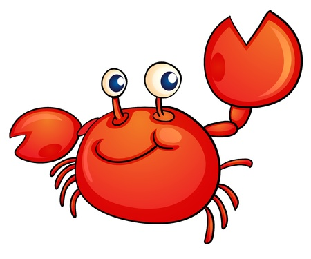 Illustration of a crab on white Vector