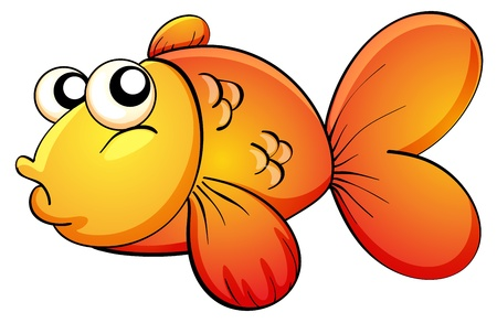 interesting: Illustration of a cute tropical fish Illustration