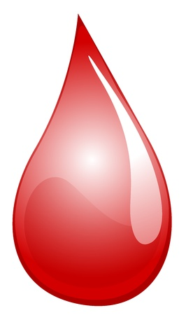 bleeding: Illustration of a drop of blood