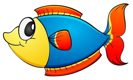 fish tail: Illustration of a tropical fish