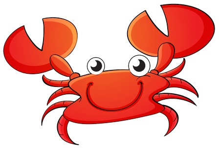 Illustration of a crab cartoon