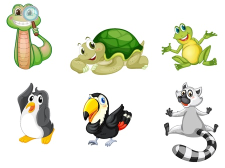 childrens: Illustration of a set of cute animals