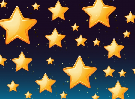 stary: Illustration of a star background