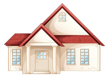 arquitecto caricatura: Ilustraci�n de una casa sencilla vista frontal Vectores