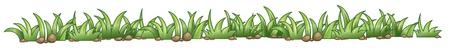 Illustration einer Gras-Textur