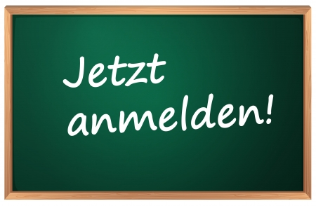 Illustration of Jetzt anmelden sign Vector