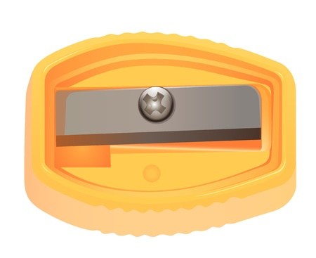 pencil sharpener: Illustration of sharpener on white