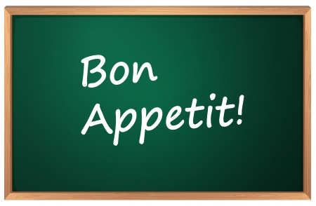 france painted: Illustration of a Bon Appetite sign Illustration
