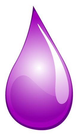 Illustration of a purple drop Stock Vector - 13749225