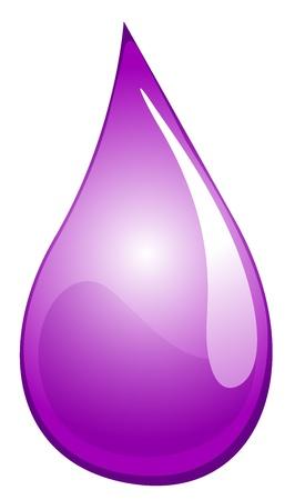 Illustration of a purple drop Vector