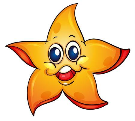 estrella caricatura: Ilustración de una estrella de mar