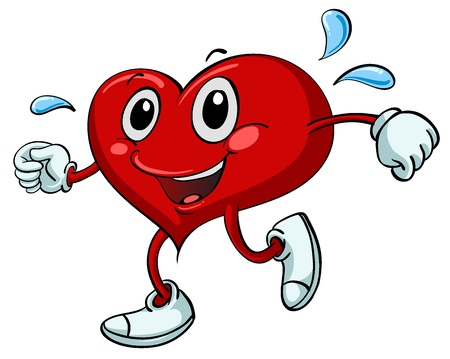 exercise cartoon: Illustration of a heart exercising Illustration