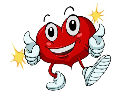 achievement clip art: Illustration of a healthy heart