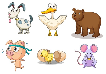 Illustration of collection of animals Vector