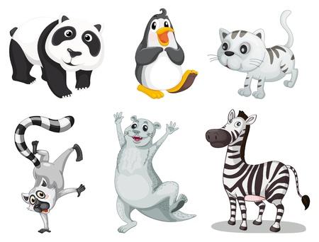 nutria caricatura: Ilustraci�n de la recogida de animales